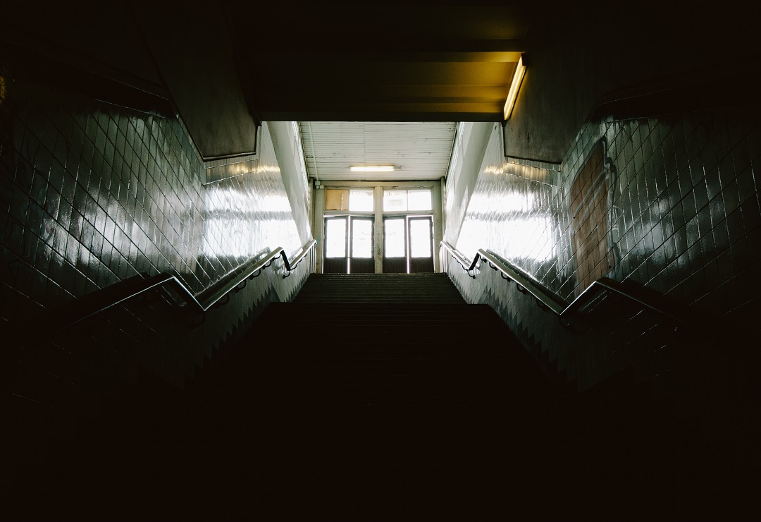 School stair case