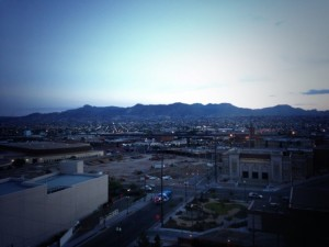View of El Paso from hotel window - author provided image