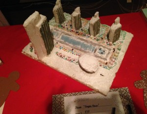 Gingerbread Sculpture of Empire State Plaza  - author provided image