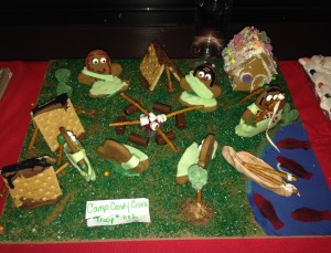 Gingerbread Sculpture of Girl Scout Camping Trip  - author provided image