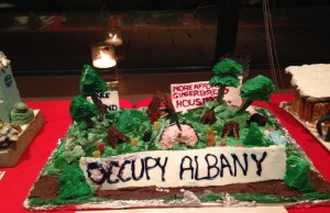 Gingerbread Sculpture of Occupy Albany Protest - author provided image