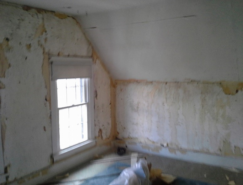 Master Bedroom walls in progress - author provided image