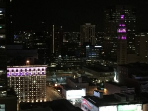 Downtown Denver at night - author provided image