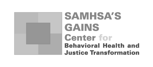 SAMHSA's GAINS Center for Behavioral Health and Justice Transformation Logo
