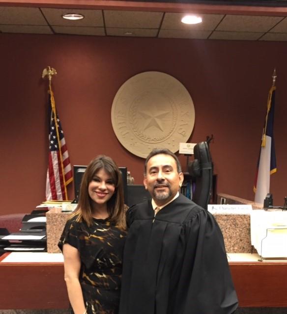 Cynthia Castaneda and Judge Anchondo