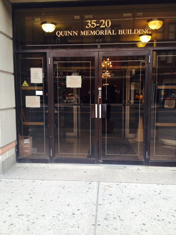 Quinn Memorial Building Entrance