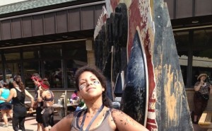 Crystal After Completing the Warrior Dash - author provided image