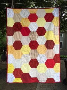 College graduation quilt - photo provided by author