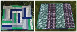 Jets & Mets Quilt  - photo provided by author