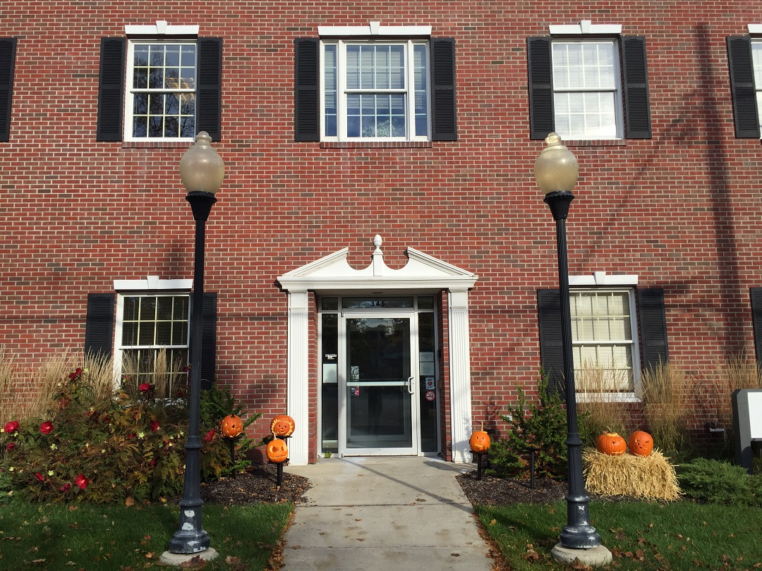 PRA Building with Pumpkin Decorations