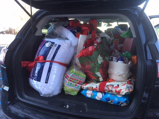 Presents Packed into Car