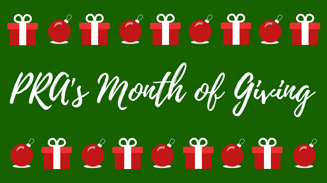 PRA's Month of Giving