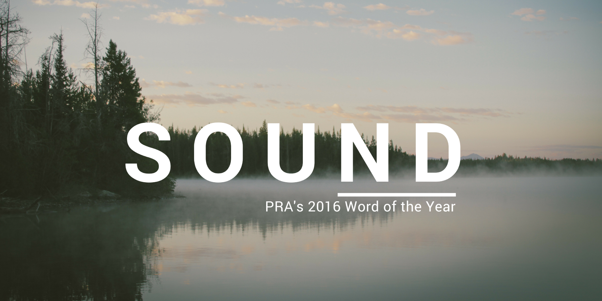 PRA 2016 Word of the Year: Sound