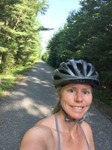 Lisa P. on the Rail Trail