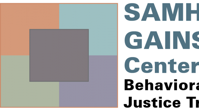 """SAMHSA""""s GAINS Center for Behavioral Health and Justice Transformation logo"""