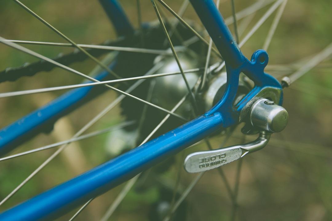 Close up of bike wheel