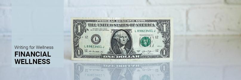 Writing for Wellness Blog Header: Financial