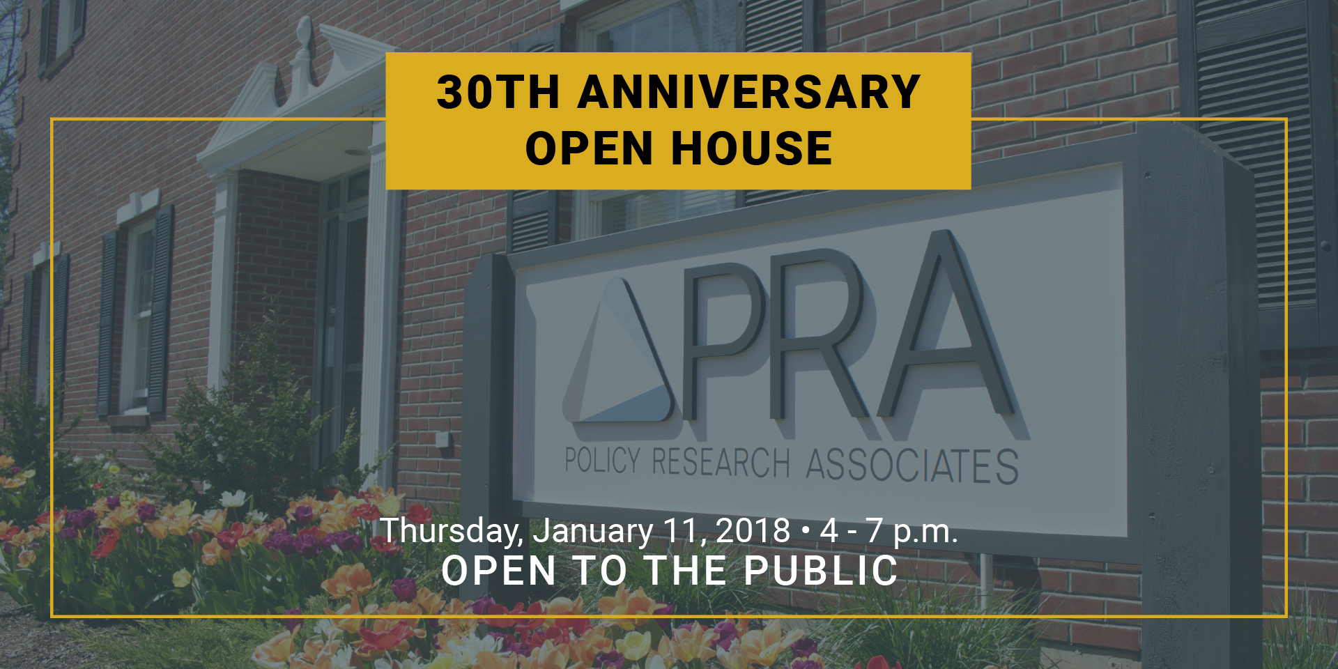 PRA Open House Web Banner