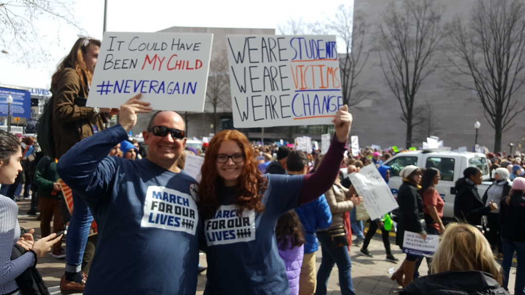 Chan and Katie at the March for Our Lives