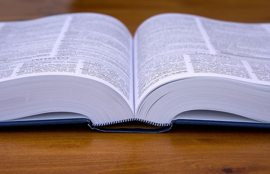 Close up of a dictionary