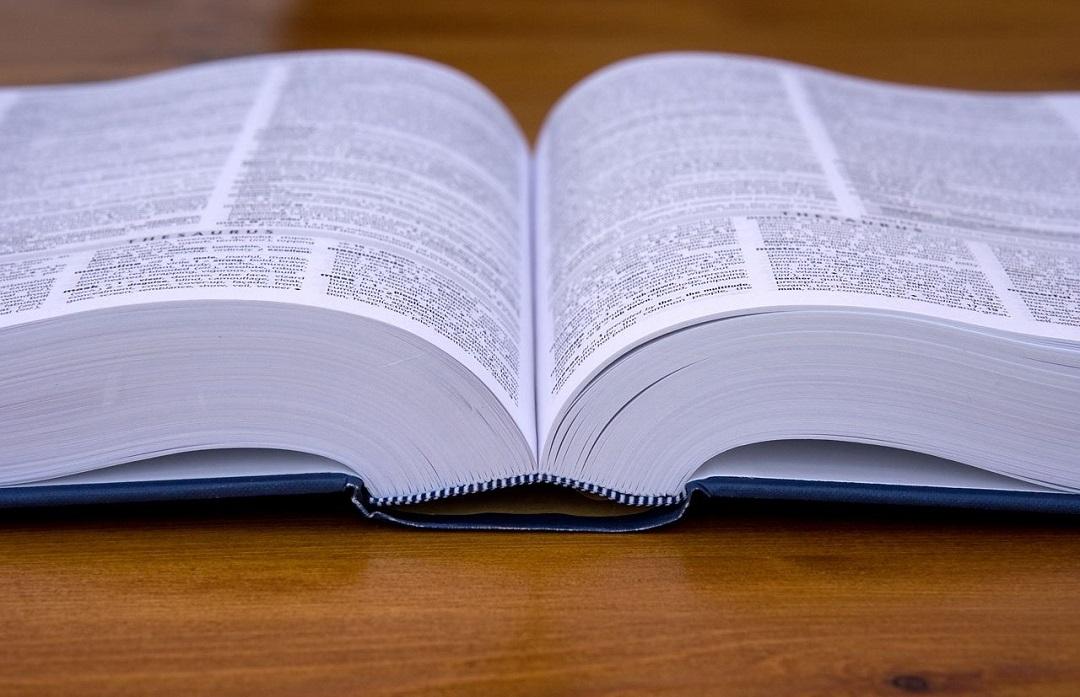 Close up of a dictionary