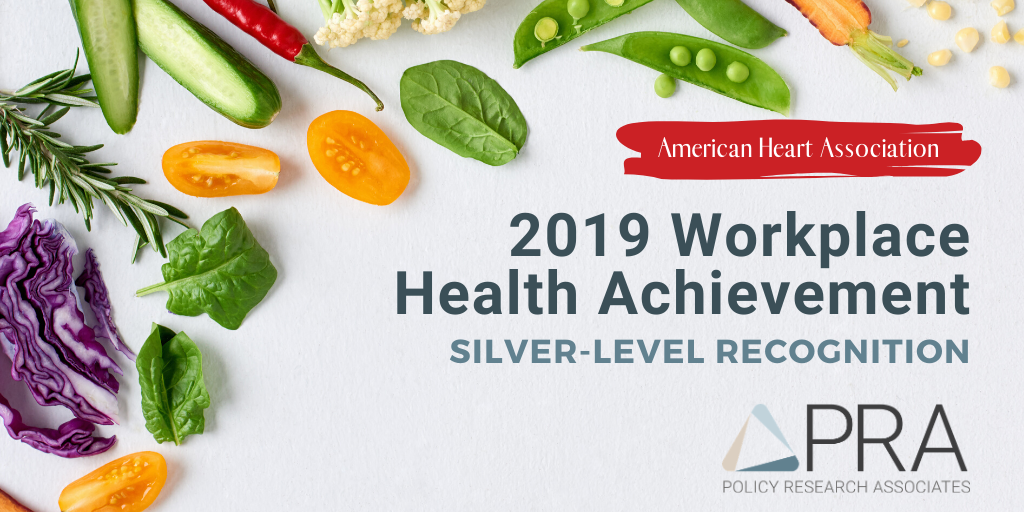 PRA Receives Silver-Level Recognition in AHA's 2019 Workplace Health Achievement Index