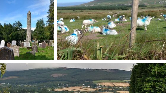 Ireland hiking photo collage