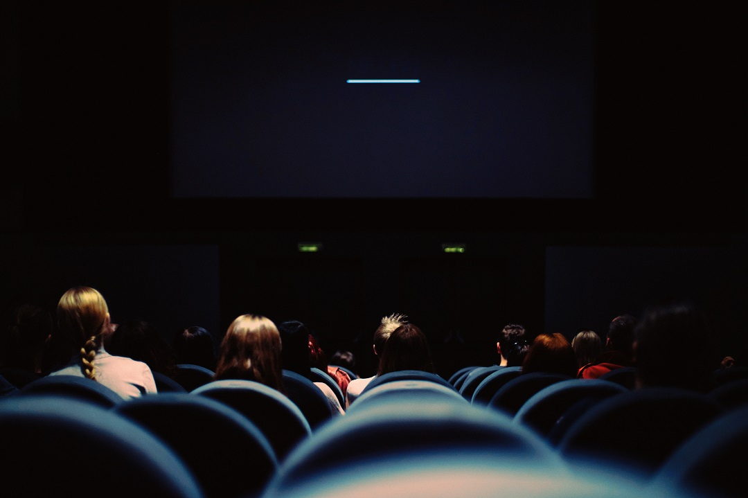 View of seats in a movie theater