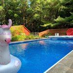 View of Terri's friend's pool