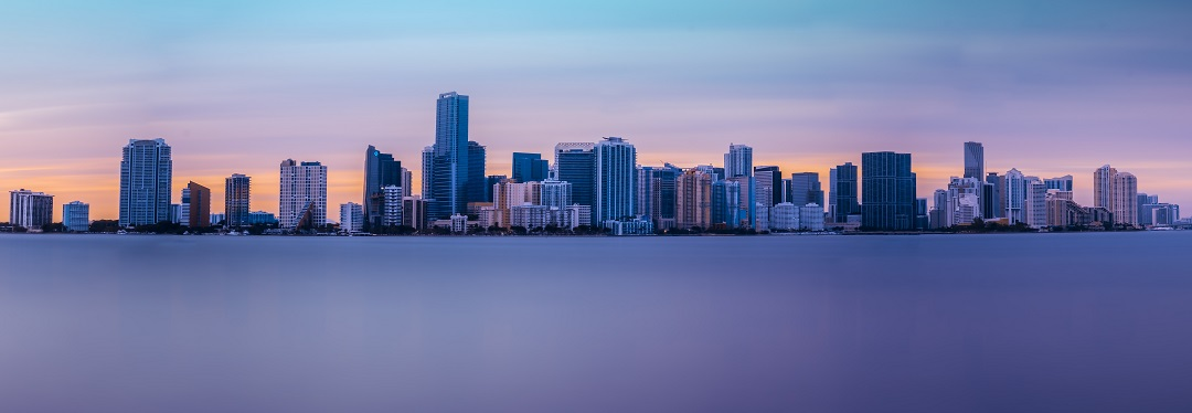Miami, Florida skyline at dusk